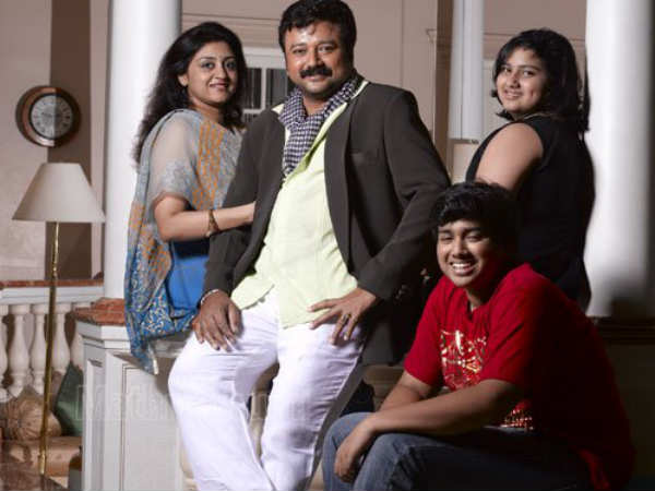 Jayaram With Family