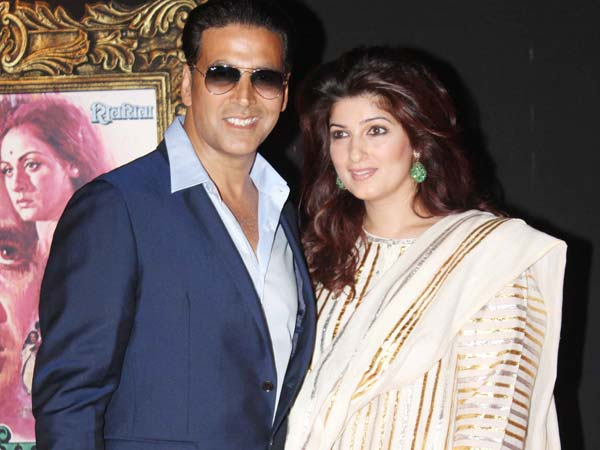 Akshay And Wife Twinkle