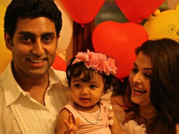 Aaradhya With Her Parents