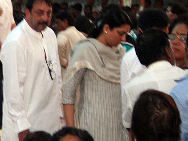 Sanjay Dutt At The Funeral