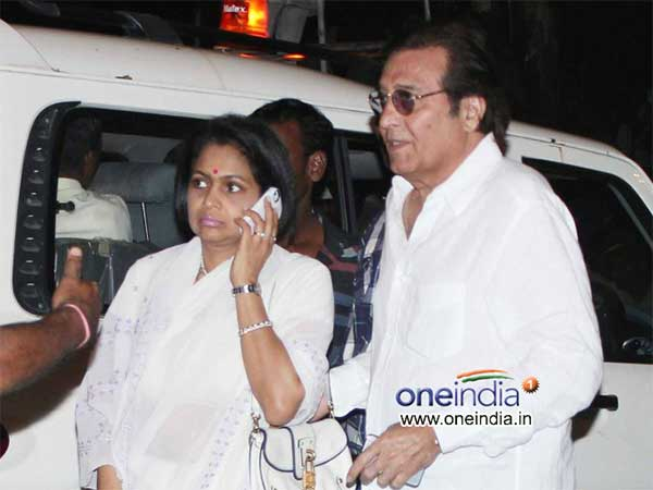 Vinod Khanna At The Funeral