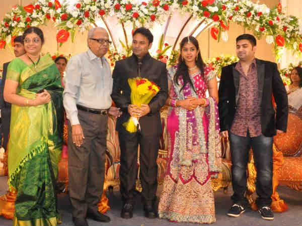 K Balachander with the couple