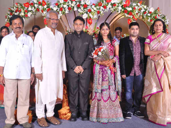 Mani Ratnam and Suhasini with young couple