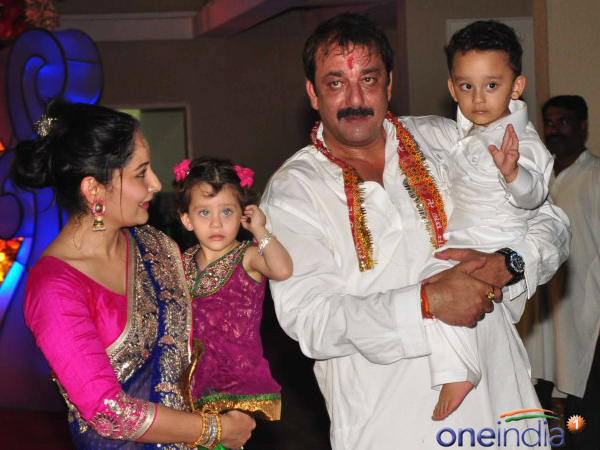 Sanjay Dutt With His Kids