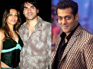 Salman Khan, Arbaaz Khan and Malaika Arora Khan