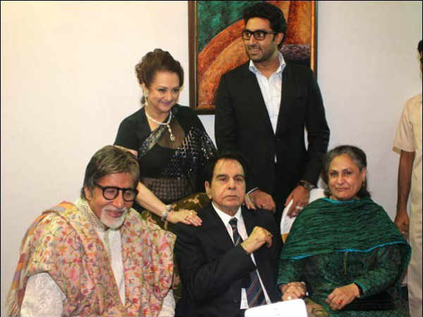 Dilip And Saira With The Bachchans