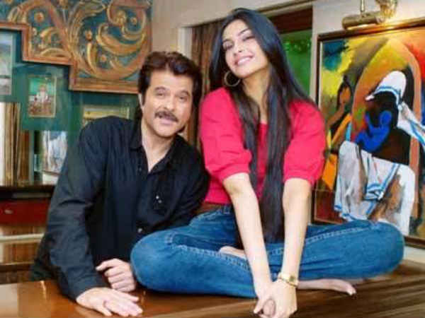 Sonam With Father Anil Kapoor