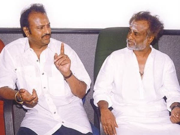 Telugu Superstar Mohan Babu With Rajini