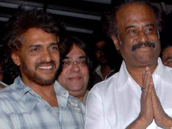 Rajinikanth With Kannada Superstar Upendra