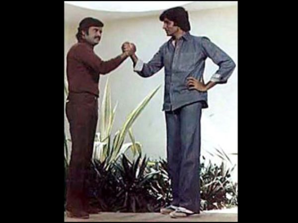 Rajini With Amitabh