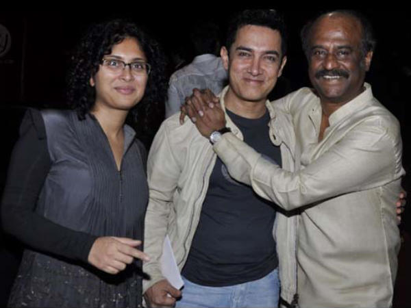 Rajini With Aamir Khan And His Wife