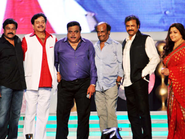 Rajini With Some Of The Biggest Names Of Indian Cinema