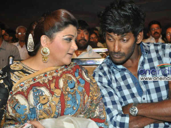 Khushboo With Vishal At The Audio Launch