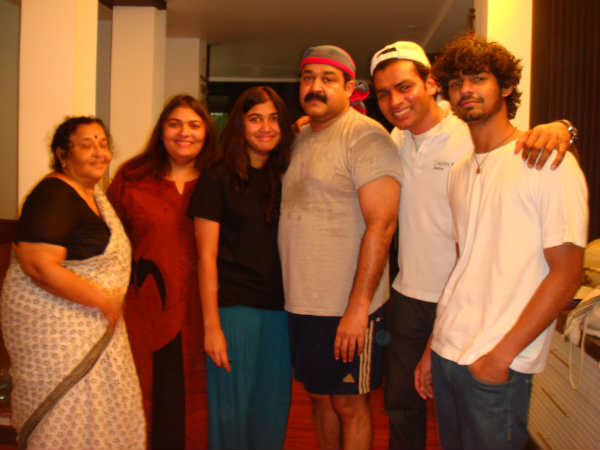 Mohanlal With family