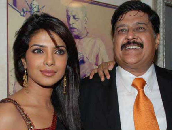 Priyanka Chopra with dad Ashok Chopra