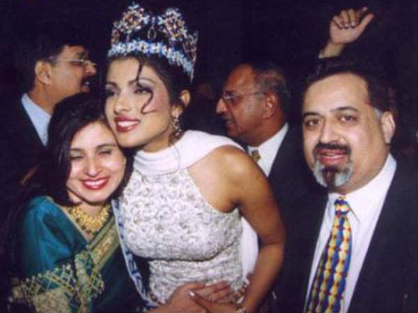 Priyanka Chopra after winning Miss World title