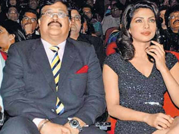 Priyanka Chopra with dad