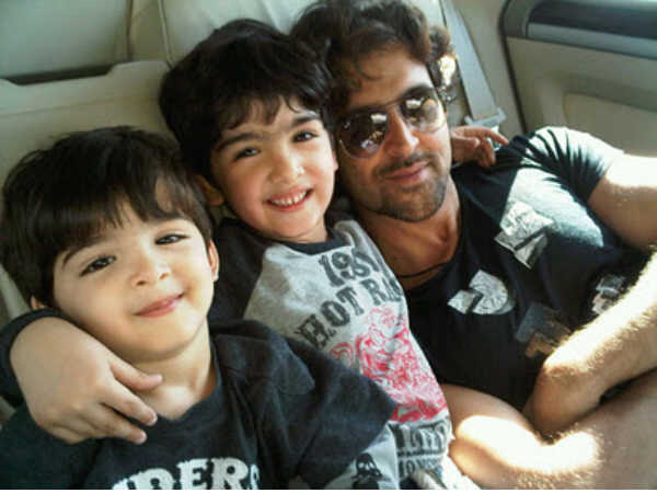 Hrithik Roshan With Kids