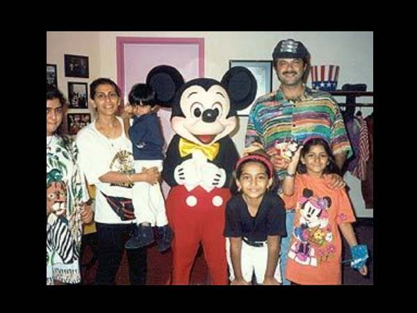 Anil Kapoor And His Family