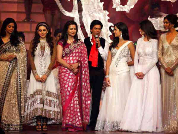 Shahrukh With Bollywood Beauties