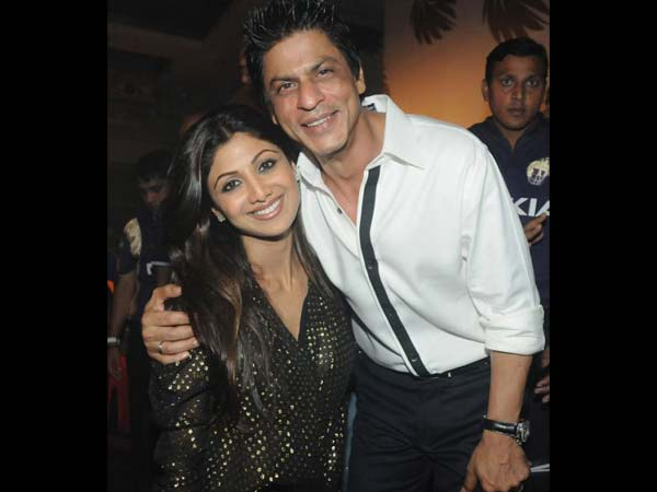 Shahrukh With Shilpa