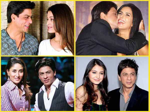 Shahrukh Khan With Bollywood divas