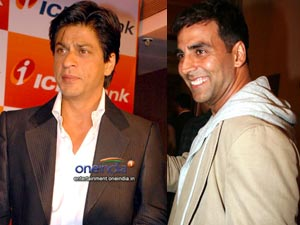 Shahrukh Khan and Akshay Kumar
