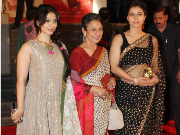 Tanuja With Daughters - Kajol And Tanisha