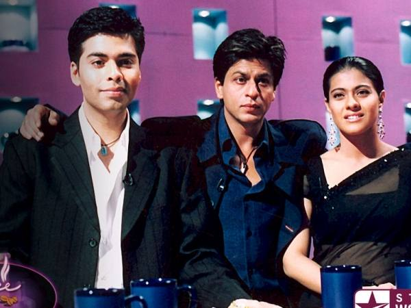 Shahrukh and Karan with Kajol