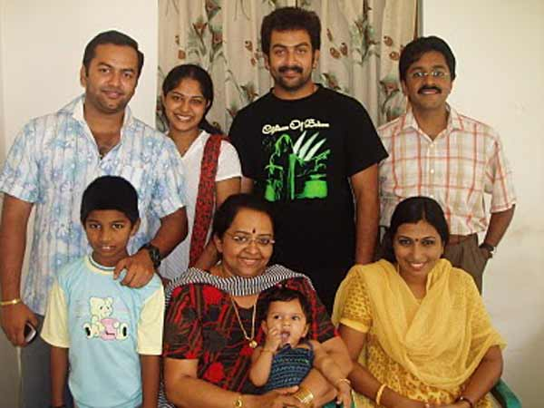 Prithviraj With Family