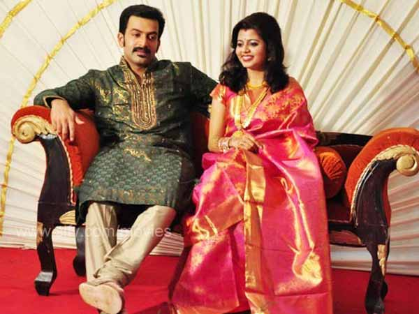 Prithviraj With Wife Supriya