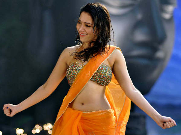 Photos: Tamanna doing rain song in Naga Chaitanya's film