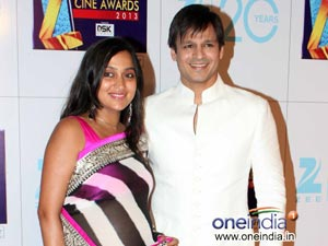 Vivek Oberoi with Priyanka