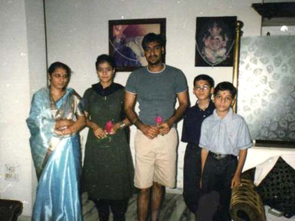 Ajay And Kajol With Family