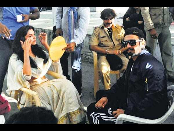 Ram Leela On The Set