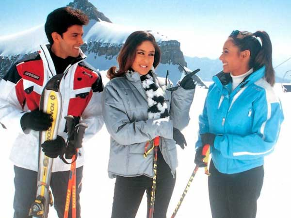 Image result for hrithik roshan kareena snow