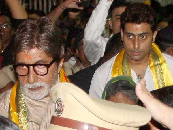 Bachchans At Siddhivinayak