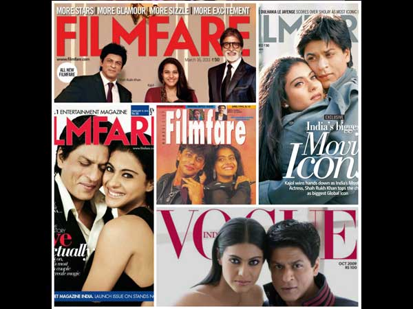 Shahrukh And Kajol On Magazine Covers