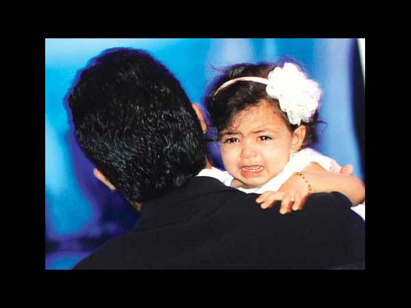 Aaradhya With Her Dad