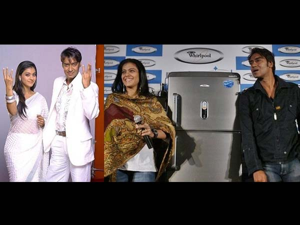 Ajay And Kajol In Whirlpool Ad