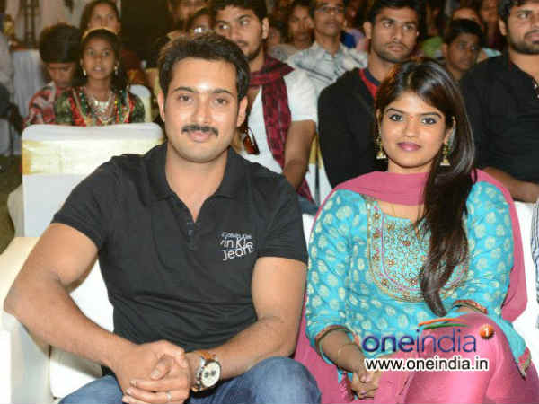 Uday Kiran Makes First Public Appearance With Wife