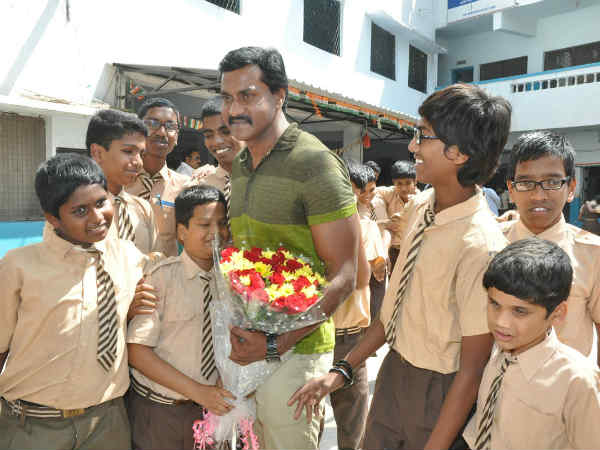 Sunil At Devnar School