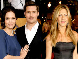 Brangelina and Aniston's wedding