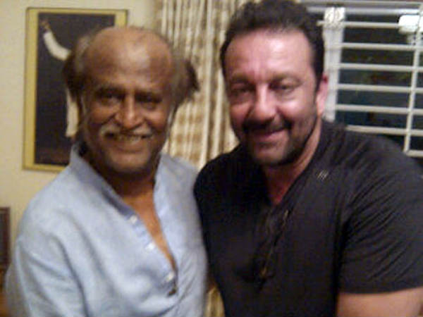 Sanjay Dutt With Rajinikanth In Chennai