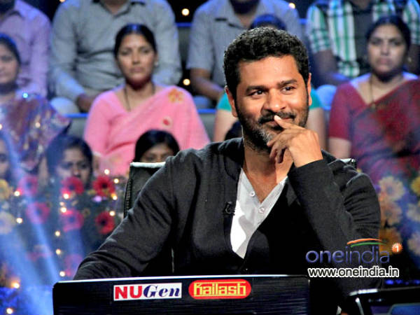 Prabhu Deva On Kannada Crorepathi Hotseat