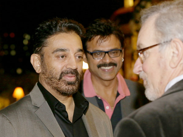 Kamal, Venkatesh Spotted With Spielberg