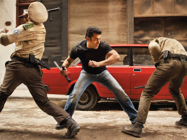 An Action Scene Performed by Salman