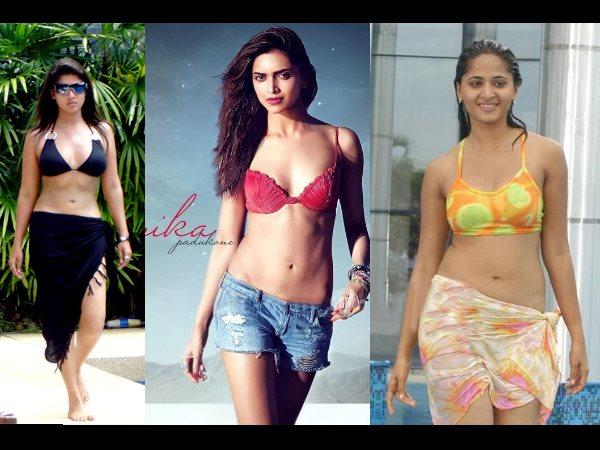 Indian Actress In Bikini Nayantara Deepika Padukone Anushka Filmibeat
