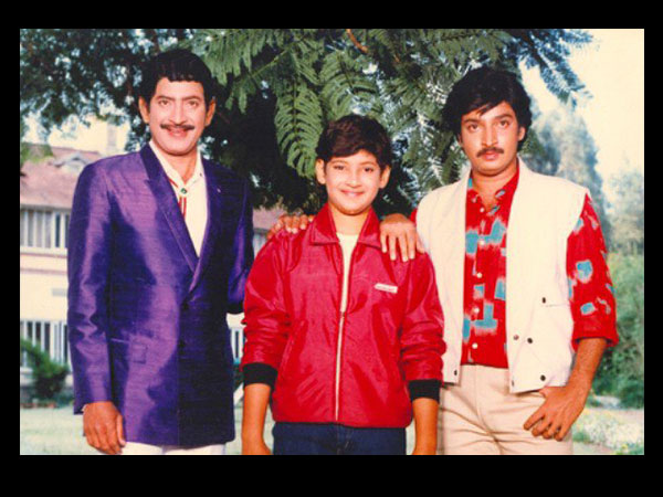Mahesh And Ramesh Babu With Father Krishna