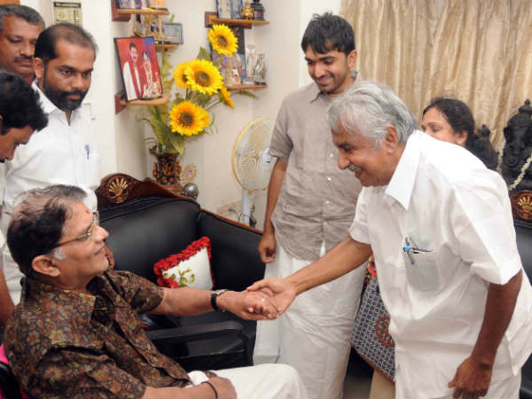 Oommen Chandy With Jagathy